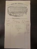 Facture Du Grand Hôtel Souville Tenu Par Dardignac, Restaurateur, Datée De 1879 - France