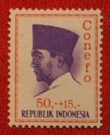 50 + 15 Rupia President Sukarno CONEFO (Mi 486 YT - ) 1965 Indonesie / Indonesien / Indonesia POSTFRIS / MNH ** - Indonesien