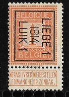 Luik 1914  Typo Nr. 48B - Vorfrankiert