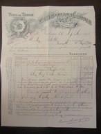 Facture Des Vins De Table Durand-Coutouly & Boyer à Narbonne, Datée Du 12 Septembre 1896 - France