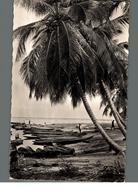 Cpa Dahomey L'afrique Noire Barques De Pêcheurs Sous Les Palmes Déstockage à Saisir - Dahomey