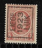 Luik 1923  Typo Nr. 82A - Préoblitérés