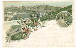 Gruss Aus Souvenir Des ROCHERS DE NAYE Litho Couleurs Voyagé 1897 Hôtel - VD Vaud