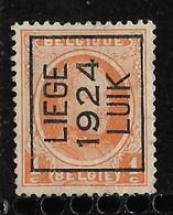 Luik 1924  Typo Nr. 96A - Préoblitérés