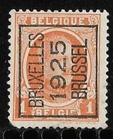 Brussel 1925  Typo Nr. 114A Hoekje Linksonder - Sobreimpresos 1922-31 (Houyoux)