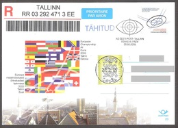 2005 Estonia Stationary Postcard #23 FDC European Championship Air Guns REGISTERED - Estonie