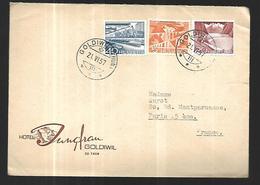 Lettre Publicitaire De Goldiwil  THUN Le 21  06 1957  Vers Paris - Suisse