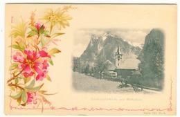 GRINDELWALD Kirche U. Wetterhorn Jugendstil Passepartout Um 1900 - BE Berne