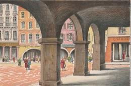 BARRE & DAYEZ: EPINAL (88). Les Arcades De La Place Des Vosges, Animées. Illustrateurs - Signés Barday. N°2112 F - Epinal