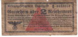 3812  LAGERGELD  2 REICHMARK   FALSCH - [ 4] 1933-1945 : Terzo  Reich
