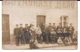 Cpa Photo Mussidan - Restaurant Beau - 50 , Quartier Du Pont  En 1901.  ( Ligne Chemin De Fer Du Périgord) - RARE. - Mussidan