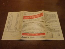 BOLLETTINO POSTALE PUBBLICITARIO POSTALE CONCORSO A PREMI 1939-40 PRIMO PREMIO 1 AUTOMOBILE FIAT 1100 - Italy