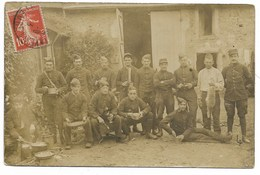 27-LES THILLERS-EN-VEXIN-CARTE PHOTO-Groupe De Militaires Du 119e Régiment En Manoeuvre... 1913 Animé - Andere Gemeenten