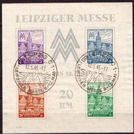 Deutschland Leipziger Messe Gestempelt Block Y Mit Bpp Dr. Jasch - Sowjetische Zone (SBZ)