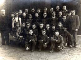 Photo Originale Scolaire Et Groupe D'écoliers Mixtes Vers 1940 - Anonymous Persons