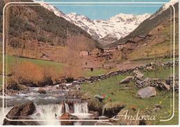 VALLS D'ANDORRA   - ARINSAL Vista Parcial Avec Timbre - Andorre