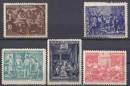 SPAGNA - BENEFICENZA - 1938 - Serie Completa Nuova MNH Composta Da 5 Valori: Yvert 60/64. - Beneficenza