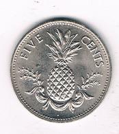 5 CENTS 1987 BAHAMA'S /1474/ - Bahamas
