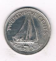 25 CENTS 1991 BAHAMA'S /1475/ - Bahamas