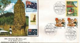 Termitière Géante En Australie. , 6 M. Hauteur,  Lettre D'Australie - Insectes