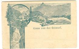 GRUSS Von Der GRIMSEL Mehrbildkarte Um 1896 - BE Berne