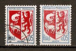 1966 - Armoiries De Villes - Auch - Nuances - N°1468 - Errors & Oddities