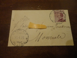 PICCOLA LETTERA CON 29 CENTESIMI CON ANNULLO MONRELA PALERMO-1929 - 1900-44 Vittorio Emanuele III