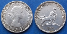 """AUSTRALIA - Silver Florin 1954 """"Royal Visit"""" KM# 55 - Edelweiss Coins - Sterling Coinage (1910-1965)"""