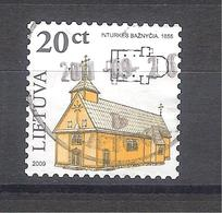 Lituania 2009-Iglesia-1 Sello Usado Y Circulado - Lituania