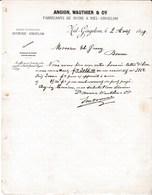 1899 Sucrerie à Niel-Gingelom. Ancion, Wauthier Et C Ie, Fabricants De Sucre - Documents Historiques