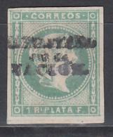 "1869 - 1874 Edifil Nº 20K  (*)  "" HABILITADOS POR LA NACION "" - Filipinas"