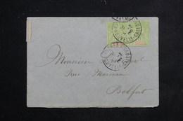 NOUVELLE CALEDONIE - Affranchissement Type Groupe En Paire De Nouméa Pour Belfort Avant 1910 - L 23420 - Briefe U. Dokumente