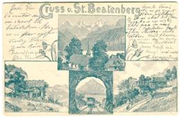 GRUSS Von St. BEATENBURG Mehrbildkarte 1898 - BE Berne