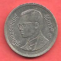 1 Baht , THAILANDE , Cupro-Nickel , BE 2544 , 2001 , N° Y # 183 - Thaïlande