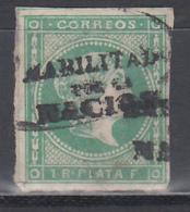 "1869 - 1874 Edifil Nº 20K    "" HABILITADOS POR LA NACION "" - Filipinas"