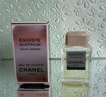 """Miniature """"ÉGOÏSTE PLATINIUM"""" De CHANEL Eau De Toilette 4 Ml Dans Sa Boite - Miniatures Modernes (à Partir De 1961)"""