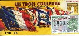 France - 324 - Les Trois Couleursr - 33 ème Tranche 1963 - Loterijbiljetten