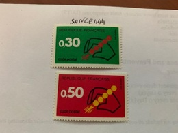 France Postal Codes Mnh 1972 - France