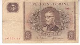 3814  SVERIGE   5   KRONOR - Suède