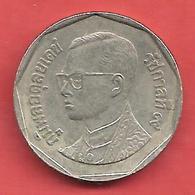 5 Baht , THAILANDE , Cupro-Nickel , BE 2537 , 1994 , N° Y # 219 - Thaïlande
