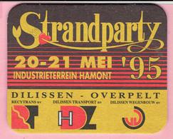 Bierviltje - Strandparty Industrieterrein Hamont 1995 - DILISSEN Overpelt - Sous-bocks