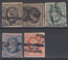 """1869 - 1874 Edifil Nº 20M, 20N, 20O, 20P,  """" HABILITADOS POR LA NACION """" - Philippines"""