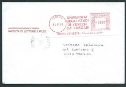 Italia 1999; EMA, Affrancatura Meccanica Rossa: Università Degli Studi Di Venezia Ca' Foscari - Affrancature Meccaniche Rosse (EMA)