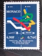 MONACO 2000 Y&T N° 2231 ** - 40e FESTIVAL DE TELEVISION DE MONTE CARLO - Nuovi