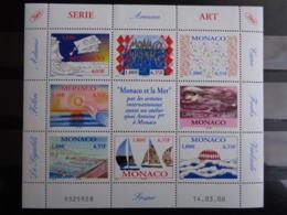 MONACO 2000 FEUILLET Y&T N° 2240 à 2247 ** - MONACO ET LA MER PAR LES ARTISTES - Monaco
