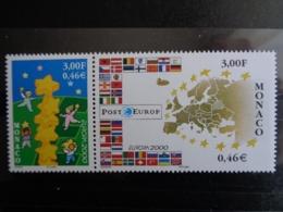 MONACO 2000  Y&T N° 2248 & 2249 ** SE TENANT - EUROPA 2000 - Monaco