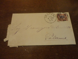 LETTERA APERTA CON  FRANCOBOLLI 0,30 CENTESIMI SOPRASTAMPATO 2 CENTESIMI-1880 - Storia Postale