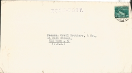 J) 1953 INDIA, BOOK-POST PURPLE, AIRMAIL, CIRCULATED COVER, FROM INDIA TO USA - 1950-59 Republic