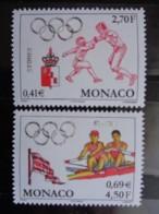 MONACO 2000 Y&T N° 2261 & 2262 ** - JEUX OLYMPIQUES DE SYDNEY, ESCRIME & AVIRON - Monaco