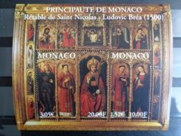 MONACO 2000 BLOC Y&T N° 84 ** - RETABLE DE ST NICOLAS - Unused Stamps